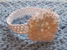Instant Download Number 82 Crochet Pattern Snowflake Baby Headband in sizes 0-3, 3-6, 6-12 Months