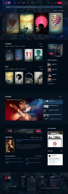 BlockBuster is clean and modern design 3in1 responsive #bootstrap template for stunning #film review and movie #database website download now..