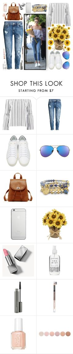 """""""Gigi Hadid Street Style"""" by officialcurvez ❤ liked on Polyvore featuring Boohoo, H&M, Yves Saint Laurent, SUSU, BillyTheTree, Native Union, Burberry, Herbivore, MAC Cosmetics and The Body Shop"""