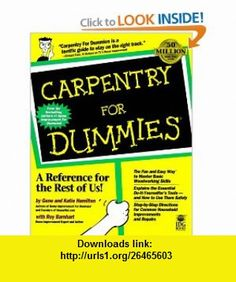 carpentry for dummies pdf download
