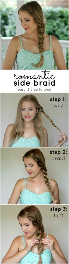 Attention: Girls who can't braid, this tutorial is for YOU! Learn how easy it is to create a romantic side braid in only three easy steps with @SuaveBeauty & @ashleynicholas! #StyleItYourself #ad
