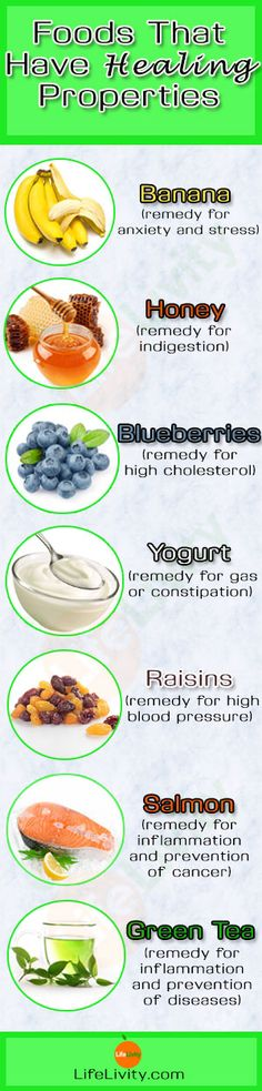 Foods That Have Healing Properties http://lifelivity.com/foods-with-healing-properties/#http://www.myehealth.in/