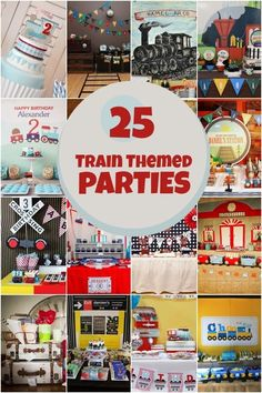 Boy's Train Birthday Party