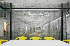 Studios Architecture Fills Neustar Office With Data-Inspired Artwork by Laurie Frick