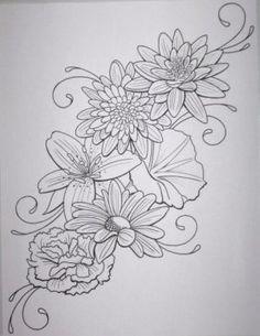 flower tattoo design by DanielleHope on deviantart good tattoo for foot tattoo…