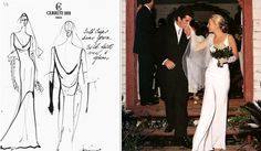 Carolyn bessette kennedy wedding dress