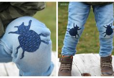 Sashiko Stitched Jeans Patches DIY Tutorial