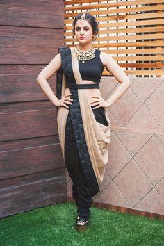 Saree with Dhoti pants