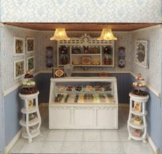 Interior view of my 1/4 scale chocolate shoppe.