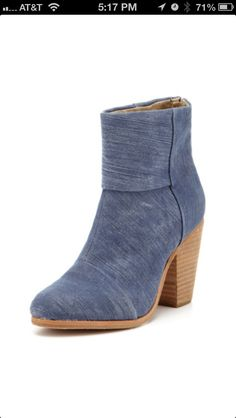 8183fd935a5 Denim color booties or wedges- so in right now!