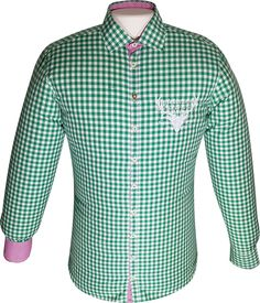 Costumes shirt light green/white plaid with deer stick #Oktoberfest #FashionShirt #Shirt #LeisureShirt #CostumesShirt #Shirts #FashionableShirt #WorkShirt #Men39;sShirt #FashionableShirts Costume Shirts, Costume Shop, Costumes, Jacket Pattern, Plaid Pattern, Pearl Embroidery, Costume Patterns, Leather Trousers, Sporty Look