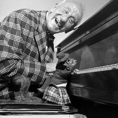 """From the April 3, 1950 issue of LIFE magazine, """"NO-GOOD SQUIRREL: It tries to pass as a pianist - Untidily dressed, an unsightly gap between jacket and kilt, the squirrel sits at piano in improper playing position on keyboard."""""""