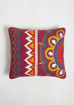 Zest I Ever Had Pillow. Youve encountered many cushions in your interior design adventures, but this magenta throw by Karma Living is the greatest of all! #multi #modcloth