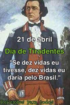 """Clique na imagem e acesse a mensagem com links o texto """"Tiradentes - Patrono Cívico da Nação Brasileira"""" e sua genealogia."""