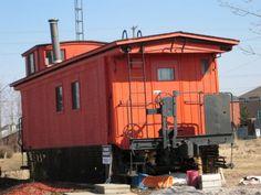 orange caboose home