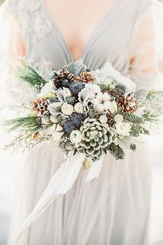 27 Stunning Winter Wedding Bouquets ❤️ See more: http://www.weddingforward.com/winter-wedding-bouquets/ #weddings #bouquet