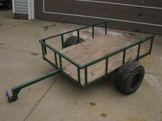 Miller - Welding Projects - Idea Gallery - Lawn Tractor Trailer