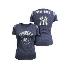 New York Yankees Striped Baseball Tee