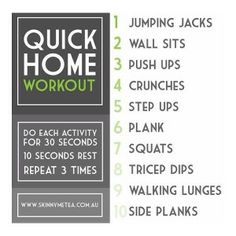 Finding it difficult to make it to the gym? Give this workout a go in the comfort of your own home.
