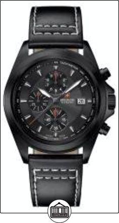 Swiss Military - Reloj de pulsera hombre, piel, color negro de  ✿ Relojes para hombre - (Gama media/alta) ✿
