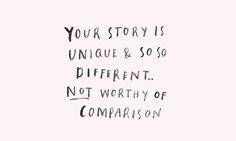 You story is unique - Blog by Susanna April