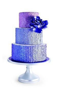 Fondant- The Wedding Cake Blog: Sequined Wedding Cake