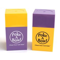 Mix 'n Match your own @Poke A Bowl® Clean Your Ash Hole® - Ashtray Travel Box™!!! What colors will you rock?  www.pokeabowl.com - clean your ash hole®