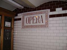 Opera metro sign, Budapest, Hungary