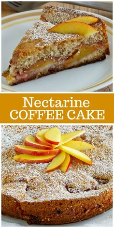 Nectarine Coffee Cake recipe from RecipeGirl.com #nectarine #coffee #cake #recipe #RecipeGirl via @recipegirl
