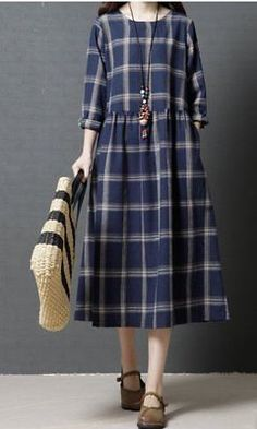 vestidos Women loose fit checkered dress pocket tunic short sleeve Bohemian Boho large you can find similar pins below. We have brought the best of th. Modest Dresses, Trendy Dresses, Casual Dresses, Short Sleeve Dresses, Loose Dresses, Tunic Dresses, Long Sleeve Tunic, Linen Dresses, Modest Fashion