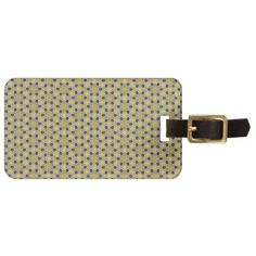 Yellow Blue Flower Pattern Bag Tag - floral gifts flower flowers gift ideas