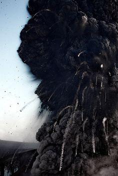 Explosive activity - Eyjafjallajökull volcano, Iceland