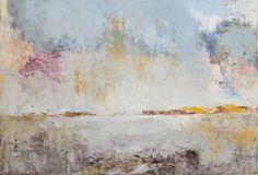 Hollandse Luchten | Olieverf, Schilderij, Landschap, Kleurrijk, Abstracte Kunst | 80x120cm Annemiki Bok