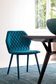 Fabric restaurant #chair AVA 1690 - Bross Italia