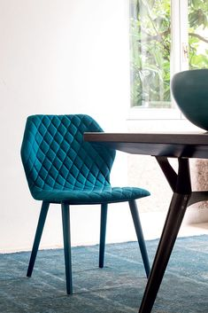 Fabric restaurant #chair AVA 1690 - Bross Italia