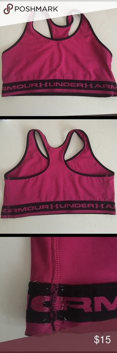 Under Armour Sports Bra Some signs of wear as shown in picture 3. Missing size tags. Under Armour Intimates & Sleepwear Bras