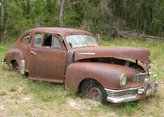 Rusty Antique Cars Various Sizes Includes Shipping door ParkerArts