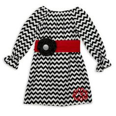 Check out this Black Chevron Red Sash Dress for $38 or find your favorite gifts at Lolly Wolly Doodle. Click on the link to receive three dollars off your next order!