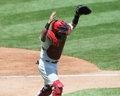 Raise your hand if you're the best catcher in baseball!!.... YADI!