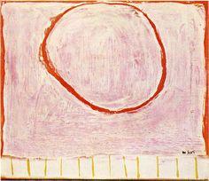 william scott: red circle on pink, 1963