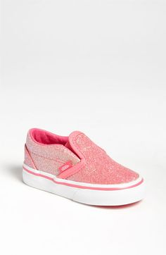 Vans Glitter Slip-On (Baby, Walker & Toddler) available at #Nordstrom - Kari needs these to replace her current pair that she always has to wear!