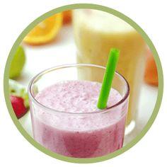 smoothie energizzante con frutta e formaggio fresco