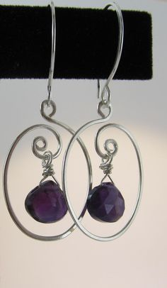 Royal Purple Amethyst Hearts in Sterling Silver by Intealect, $40.00
