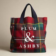 Tartan Tote Bag tartan tote bag by plum & ashby Tartan Fabric, Tartan Plaid, Plum And Ashby, British Gifts, Tartan Fashion, Plaid Outfits, Leather Bags Handmade, Fabric Bags, Womens Purses