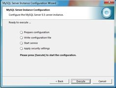 Installing MySQL on Windows 7: Complete the Instance Configuration