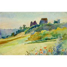 Watercolor - Chateau de la Madeleine, 1931