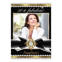 Fabulous 50 Photo Black White Gold Diamond 3