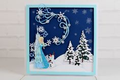 The gorgeous Disney Christmas Collection. For more information visit… Disney Christmas Cards, Disney Cards, Mickey's Very Merry Christmas, Vintage Christmas, Tattered Lace Cards, Create And Craft, Disney Style, Disney Frozen, Paper Crafts
