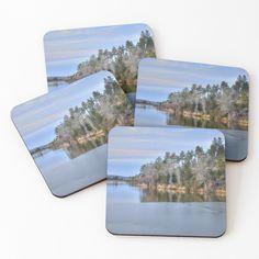 """Icy Lynx Lake in Prescott Arizona"" Coasters (Set of 4) by DianaG   Redbubble Prescott Arizona, Lynx, Cold Drinks, Coaster Set, Vibrant, Graphic Design, Explore, Prints, Photography"