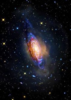 #NGC3521 ~ a flocculent intermediate spiral galaxy located about 26 million light years away in the constellation Leo.